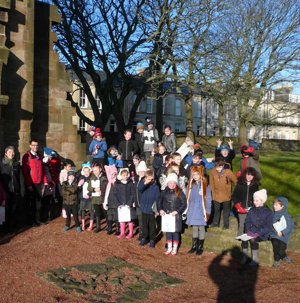 Children from Newton Primary School enjoyed a trip to St.John's Tower.